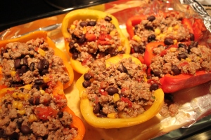 Stuffing the Peppers